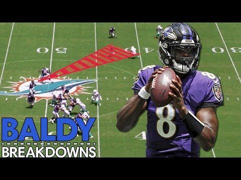Analyzing Lamar Jackson's 5 TD Week 1 Performance | Baldy Breakdowns