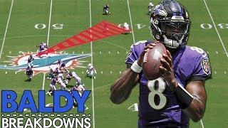 Analyzing Lamar Jackson's 5 TD Week 1 Performance | Baldy Breakdowns