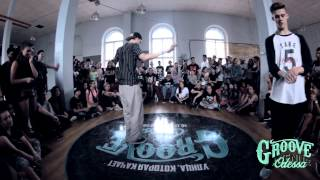 RORO vs BOOGALOO FREAK | GROOVE AVENUE 2015 | POPPING 1\4