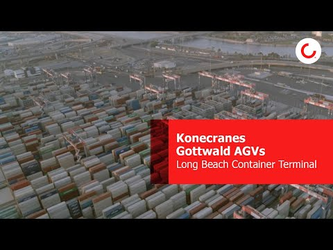 Konecranes Gottwald AGVs at Long Beach Container Terminal