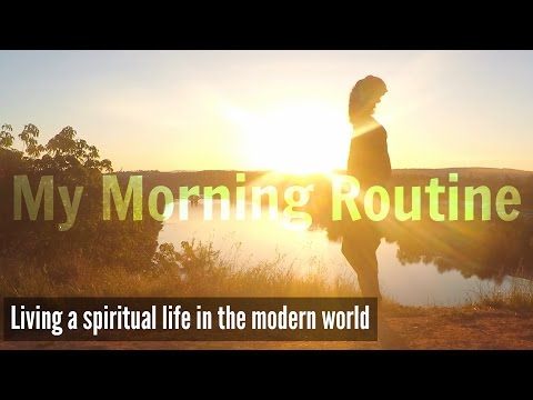 My Morning Routine Raw & Vegan | How to live a spiritual life in the modern world