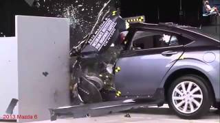 2013-2015 New Crash Test Audi A4 BMW Mazda 6