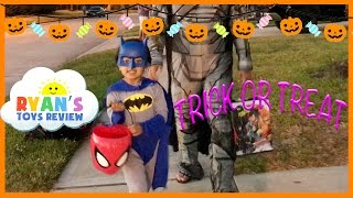Kid Halloween Trick or Treat Candy Haul Prank on Ryan I told my Kid I ate all their Halloween Candy