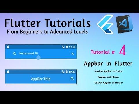 Custom appbar flutter