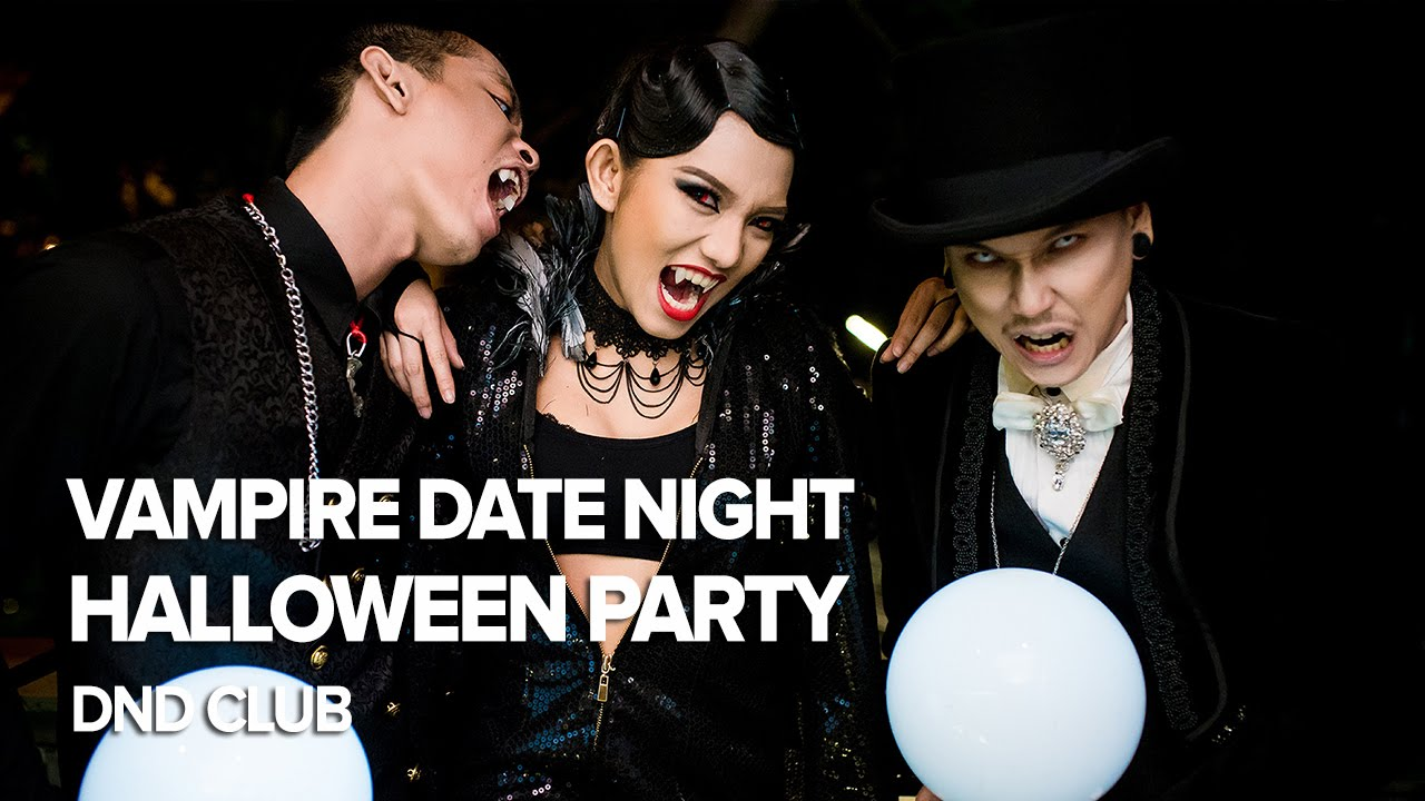 vampire date night | halloween 2015 at dnd club - youtube