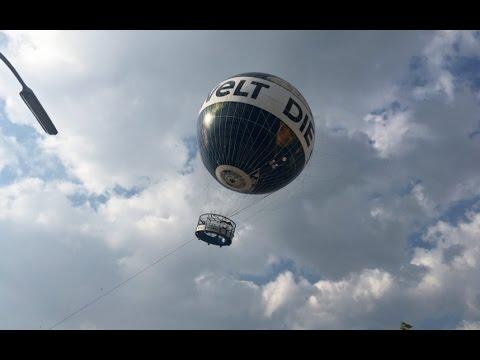 Terror for tourists on helium balloon in Berlin