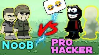 Noob vs Pro Hacker... || Minimilitia can't stop hackers. || Doodle army 2 Minimilitia screenshot 4