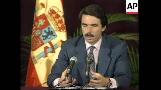 MEXICO: SPANISH PRIME MINISTER JOSE MARIA AZNAR PRESS CONFERENCE