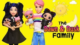 SWTAD LOL Families ! The Dawn & Dusk Family Wacky Day ! Toys and Dolls Pretend Play Fun for Kids