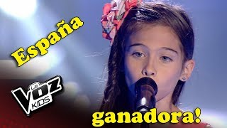 Melani Ganadora - La Voz Kids España - Sus Presentaciones!