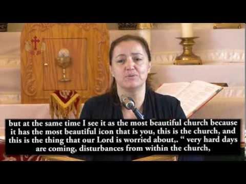 Myrna Soufanieh delivers Jesus & St. Mary messages |  اختبار الاخت ميرنا الاخرس مترجم للانكليزية
