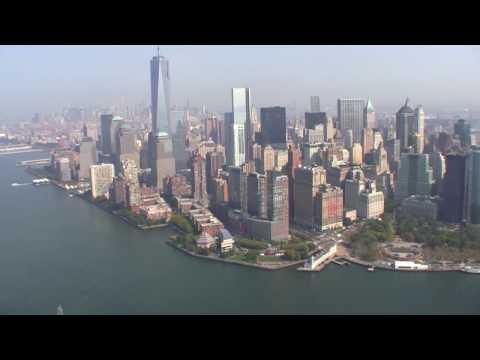 Helicopter tour flight NYC Ground Zero  Statue of Liberty Brooklyn Bridge Manhattan Freedom Tower