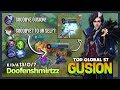 Perfect Hand with Smooth Dagger Combo  Doofenshmirtzz Top Global Gusion S7   Mobile Legends