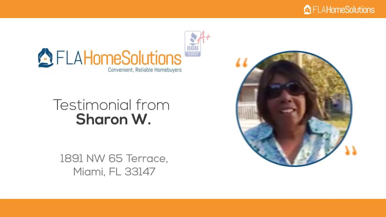 Visit www.FLAHomeSolutions.com or Call 305-602-4105-Sharon W's Testimonial for Creative RE-Solutions