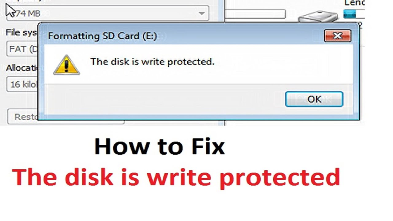 How to remove write protection on flash drive mac