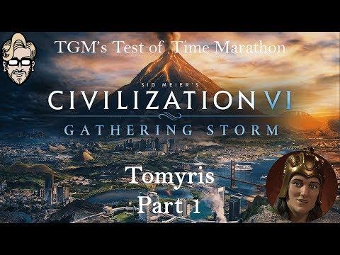 Let's Play Civilization 6: Gathering Storm - Deity - Tomyris part 1