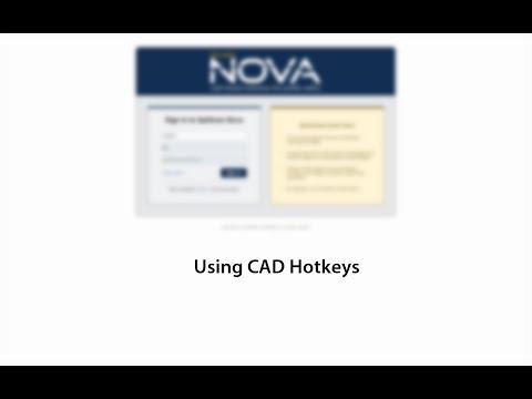 Using CAD Hotkeys