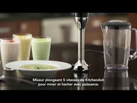 kitchenaid mixeur plongeant cuisine plaisir youtube. Black Bedroom Furniture Sets. Home Design Ideas