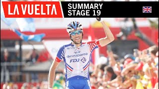 Summary - Stage 19 - La Vuelta 2018