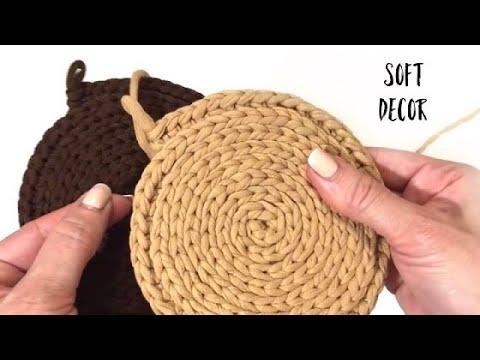Круглый коврик крючком | Узор крючком | Crochet Patterns