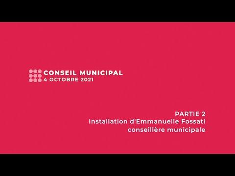 Conseil municipal du 4 octobre 2021 - PARTIE 2