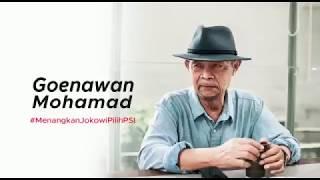 Goenawan Mohamad dukung Jokowi & PSI
