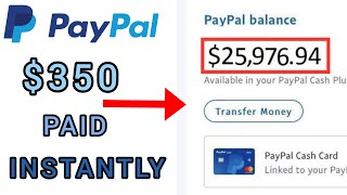 """FREE PAYPAL MONEY $350 PAID INSTANTLY  """"New Website""""   How to Make Money Online"""