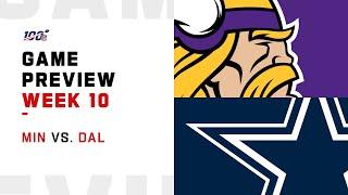 Minnesota Vikings vs Dallas Cowboys Week 10 NFL Game Preview