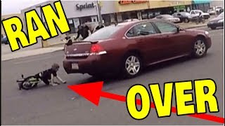 LITTLE KID HIT BY CAR RIDING BIKE!! ( HIT AND RUN )