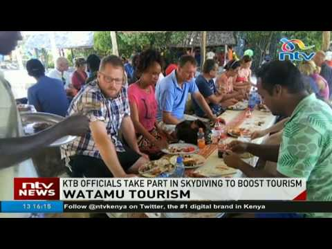 Tourism board officials go skydiving in Watamu to boost tourism