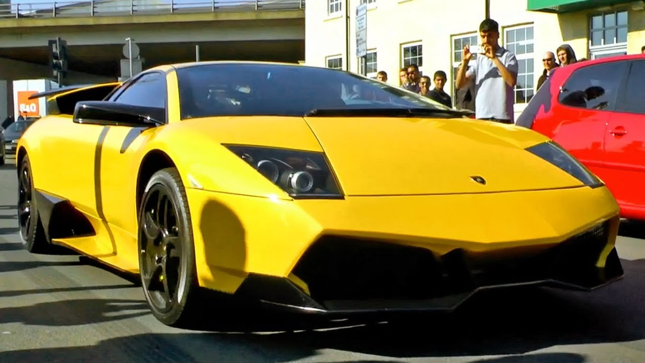 Lamborghini Murcielago LP640 with SV kit , revving and drawing a crowd