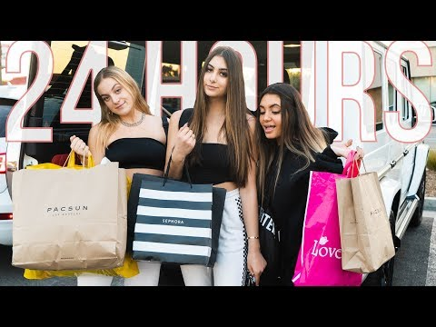 24 HOUR SHOPPING CHALLENGE! | Nicolette Gray