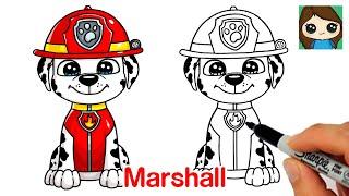 How to Draw Marshall Paw Patrol