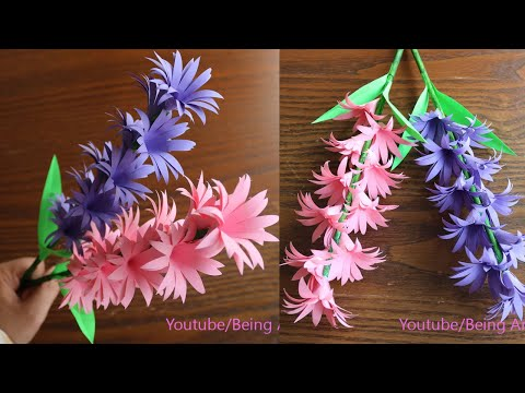 Paper Flower Stick - Paper Craft - DIY Flower - Home Decor