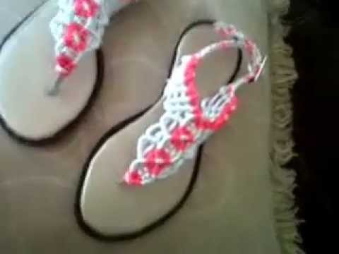 386b5aee8 sandalias en macrame para ni as - YouTube