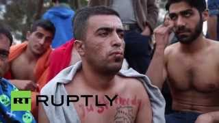 Greece: Iranian refugees sew mouths shut to protest Macedonia