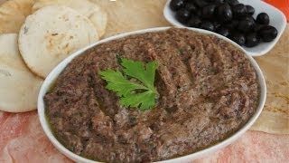 Red Bean & Black Olive Pate Dip Recipe Vegan - Kidney Beans