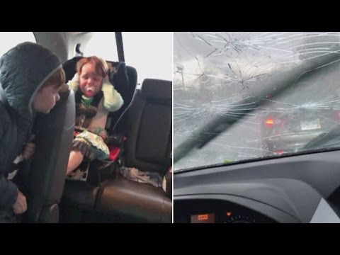 Thumbnail: This Family Was Trapped in Their Car During a Terrifying Hail Storm