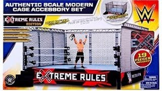 WWE Authentic scale Modern Cage Accessory set