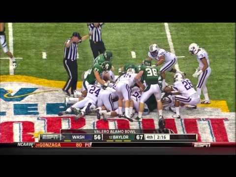 Hager forces fumble after kickoff, McCall recovers, Baylor v Washington, 2011 Alamo Bowl