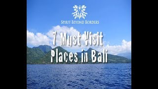 7 BEST PLACES to visit in Bali