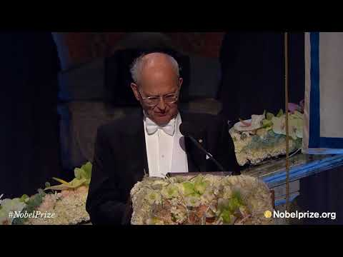 Nobel Banquet speech by Rainer Weiss, Nobel Prize in Physics 2017