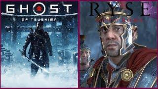 Ghost of Tsushima vs Ryse Son of Rome Comparison   4K 30 FPS 2160P   Sony E3 2018