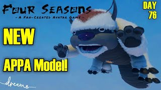 Creating an AVATAR Game!   Completely NEW APPA Model & Animations!   [Day 76] [Dreams PS4]