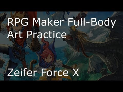RPG Maker MV - Full-Body art and monster art practice for Zeifer Force X