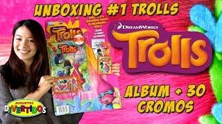 Unboxing TROLLS!!! Album + 30 cromos!!! Los pegamos todos...