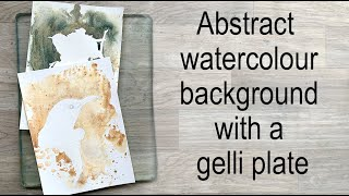 Painting an abstract watercolour background with a Gelli plate.