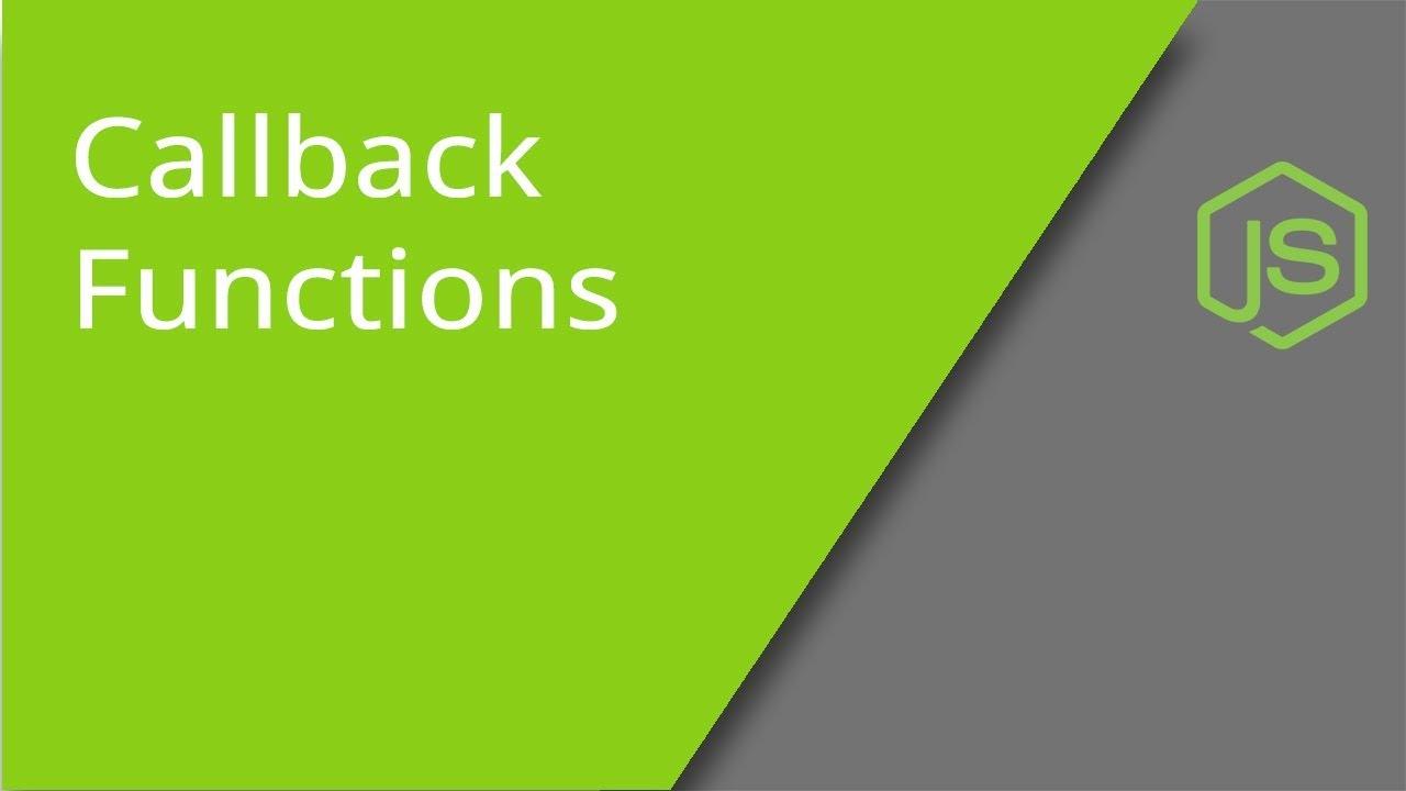 Callback function in Javascript