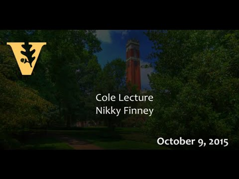 Vanderbilt Divinity School 2015 Cole Lectures delivered by Nikky Finney