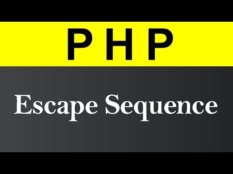 Escape Sequence in PHP (Hindi)